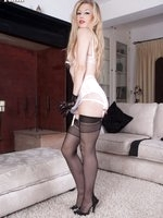 Show off Michelle in French vintage nylons!
