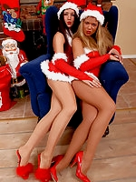 Christmas girls in pantyhose