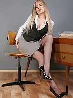Alina Heels - Bad Office Girl in Seamed Stockings
