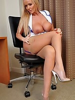 Sexy District Nurse Lucy Zara is sent to do a Home visit, and gives the patient a lot more than a hot dinner