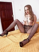 Aston showing off her lovely toned and shapely body in her black pantyhose!