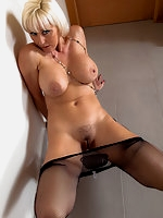 Jan Burton Hot British MILF In Pantyhose