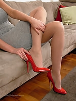 When you see a high heeled woman her curves, her figure and her walk are all sexually improved by her lovely shoes.