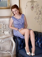 Jenny Smith in her vintage nylons