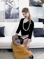 Brook Logan - Hot Tease in reinforced heel and toe nylons