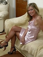 Jayde plays in satin slip
