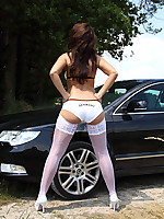 Desyra Noir Free Pantyhose and Stocking Fetish Pictures